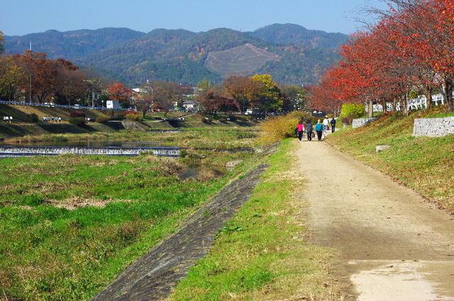 秋・賀茂川と西賀茂船山