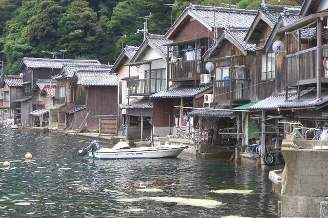 夏・伊根の舟屋