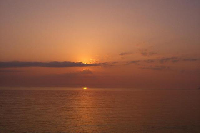 河野海岸の夕日