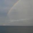 富山湾の虹
