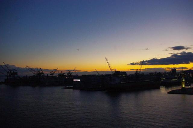 大阪湾の残照